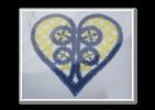 Cuore giallo e blu
